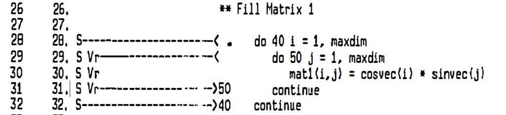 Cray Fortran Listing